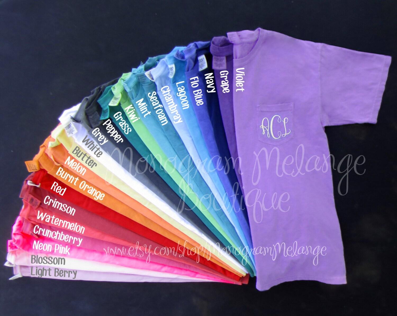 monogram comfort color tshirt short sleeve