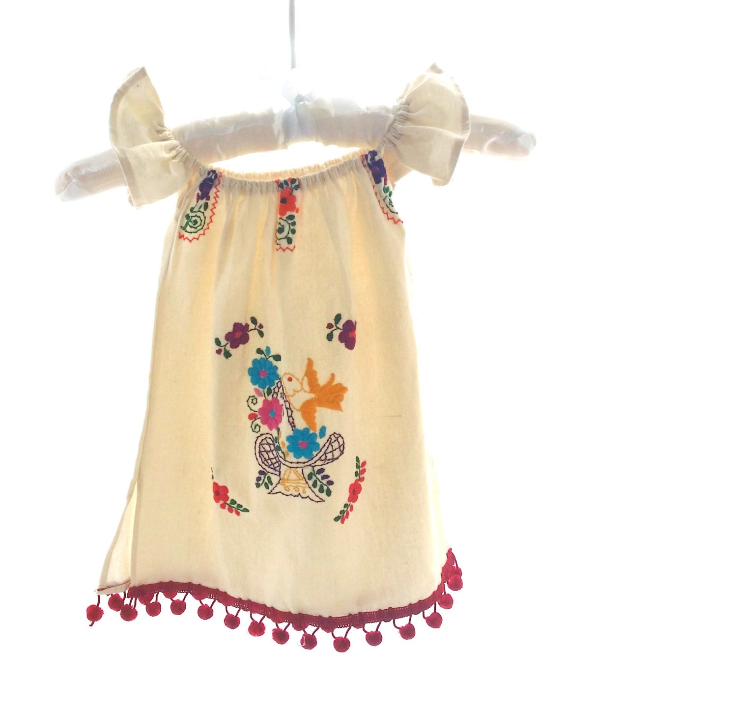 Angela s handmade mexican embroidered baby dress by
