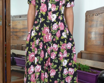 Robe fleurie 90s Taille 38