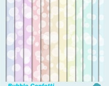 Digital Papers: INSTANT DOWNLOAD Bubble/Bokeh in Pastel Blue, Green, Pink, Purple for Scrapbooking, Card Making and Invites