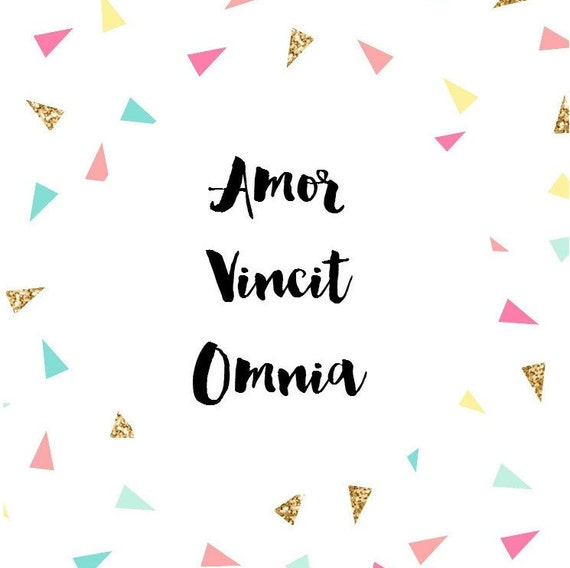 amor vincit omnia love conquers all a4 poster by douceabsinthe. Black Bedroom Furniture Sets. Home Design Ideas