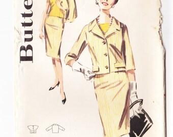 Vintage Pattern 1960's Butterick 2606 Slimliner (Women's Jacket, Skirt, and Overblouse)