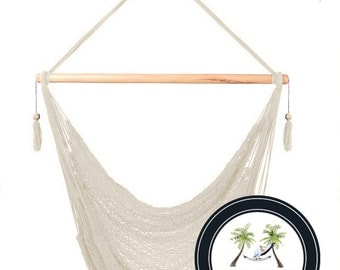 Natural Hammock Chair - 100% Hand Woven - Perfect for one child, teen or adult!