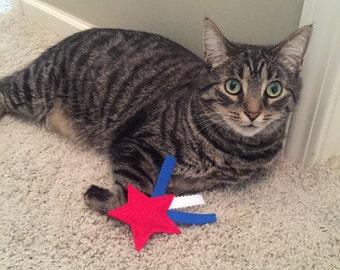 Shooting Star Catnip Cat Toy - 4th of July Organic Catnip Pet Toy