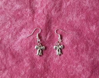 HoeBow Bow Earrings - 2 sided Tibetan Silver