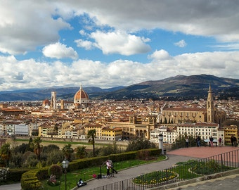 Florence photography, Piazzale Michelangelo, Florence skyline, view of Florence, Firenze, Tuscany, photography of Italy.