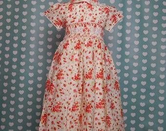 Clearamce  size 4 Girls Dresses, Smocked Girls Dresess, handmade girls dresses, summer dress girls Reg 59 usd