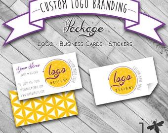 Custom Logo Branding Package - Custom Business Cards Design, Custom Sticker Design