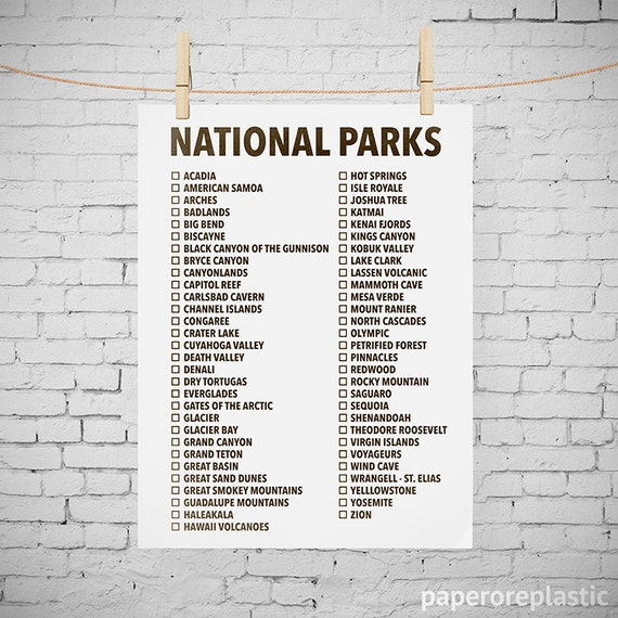 Us national parks list printable bing images for Lit national