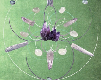 Anxiety Crystal Grid Poster Print