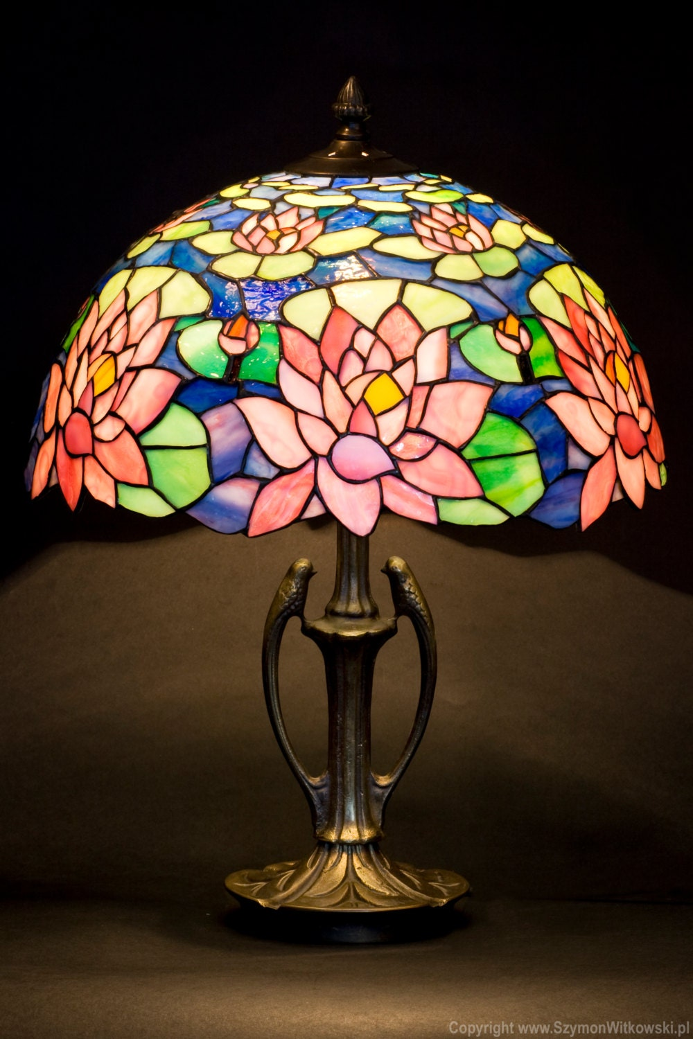 Stained Glass Art Stained Glass Table Lamp Stained Glass