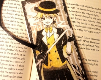 Vocaloid / Len Kagamine / Dream Eating Monochrome Baku, Bookmarks, Laminated, Colored Pencil, Illustrations