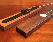 Apple Watch Charging Station - Cherry or Walnut wood - Handmade - Apple Watch Docking Station - Stand