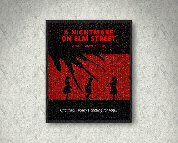 Nightmare On Elm St Quotes: A Nightmare On Elm Street Minimalist Movie Quote Poster Print