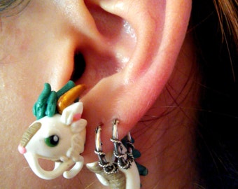 Haku Dragon Form Spirited Away Fake gauge earring Studio Ghibli Piercing