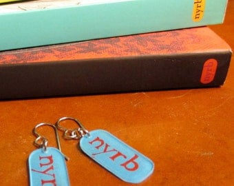 Book Earrings: NYRB Classics [Book Jewelry Literature Author Publisher Library Librarian Bookstore Books]