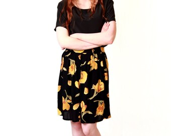 Womens Upcycled Floral Print Skirt