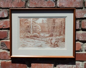 "1987 Special Edition Titled ""Mountain Meadows"" Etching"
