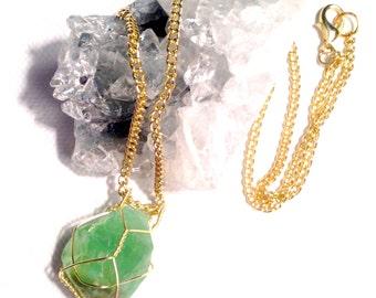 Emerald Calcite Necklace