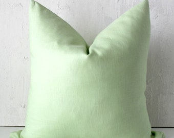 Lime Linen Cushion Cover | Pillow Cover | Invisible Zipper