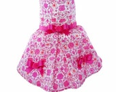 Pink Liberty of London 100% Cotton Floral Summer Dress for Dogs by Bella Poochy TM