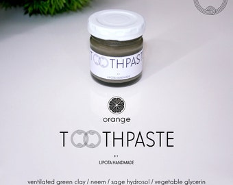 Lipota Toothpaste (S) - All natural, herbal, vegan, organic, healthy, without: fluoride, chemical preservatives or artificial coloring