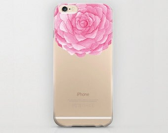 Flower iPhone 6 Case Pink iPhone 6s Rose Blooming Design Floral Phone Cover iPhone 6 Plus Floral Birthday Gift iPhone 6s Plus Cute