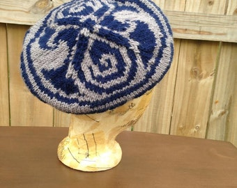 Doctor Who Celtic Tam | Seal of Rassilon | Whovian | Gallifreyan Knit Hat