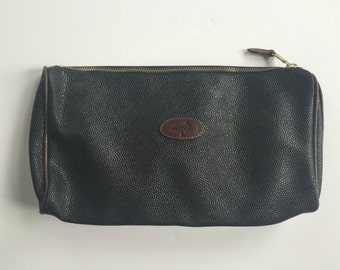 Mulberry scotchgrain leather cosmetic bag, large with handle