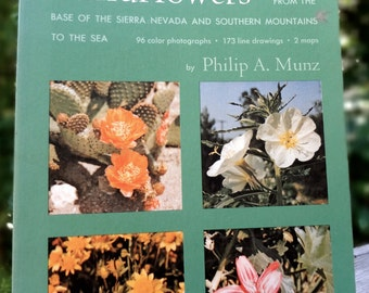 1972 Book (softcover): California Spring Wildflowers