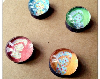 Flip flop summer glass magnets