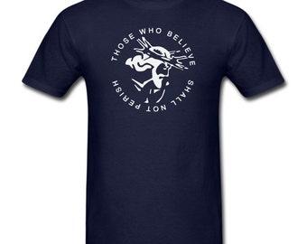 Men's T-Shirt Shall Not Perish Christian