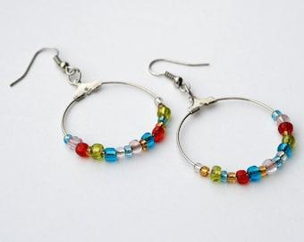 Multicolour Hoop Earring