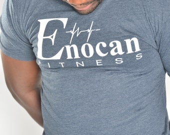 ENOCAN Men Fitness Signature Tee/Fitness T-Shirt - Midnight Navy