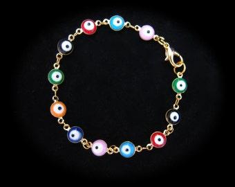 Evil Eye Bracelet, Evil Eye Jewelry, Eye Jewelry, Eye Bracelet, Evil Eye Bracelet Gold Gold Plated Bracelet Small Bracelet, Mothers Day Gift