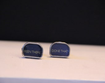 BEEN THERE/done THAT large typewriter key cufflinks