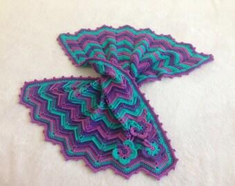 Crochet Pattern Baby Blanket / Tutorial: Crochet Baby Blanket Pattern, Ridged Chevron Butterfly Blanket, Baby Girl - Instant Download
