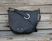 RESERVED CUSTOM Leather Crossbody Bag / Saddle Bag / Hand Stitched Bag  / Leather Purse / Gifts For Her  /Feral Empire