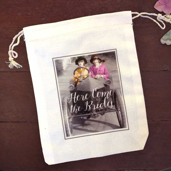 lesbian wedding shower ideas items similar to lesbian wedding favor bags here come
