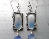 Birds of Lothlorien, Art Nouveau Feather Earrings