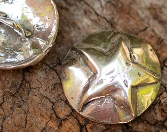 Artisan Star Button Clasp in Sterling Silver