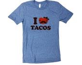 TACO T-Shirt - I Love Tacos FUNNY Mens Unisex Shirt