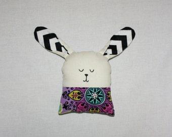 Bunny Rabbit Plush PURPLE HENNA/ Stuffed Animal / Handmade Doll / Easter Decor, READY to ship