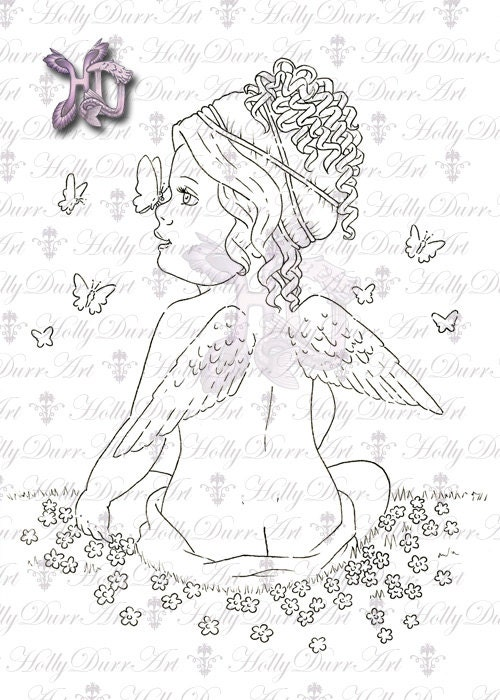 coloring pages cherubs - photo#25