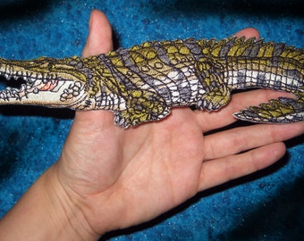 Awesome Nile Crocodile Patch Crocodylus niloticus Iron on patch Applique Gator