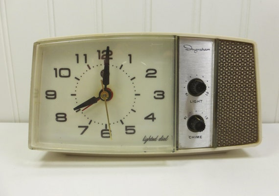 Electric Alarm Clock ~ Vintage ingraham electric alarm clock with lighted dial
