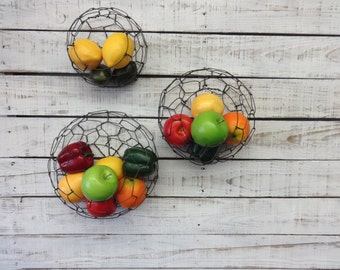 Wire Wall Basket Set