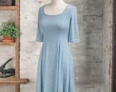 Marion Marinière Striped Dress - blue dress - nautical dress  - breton stripes - sun dress - petite clothing - casual dress - eco fashion