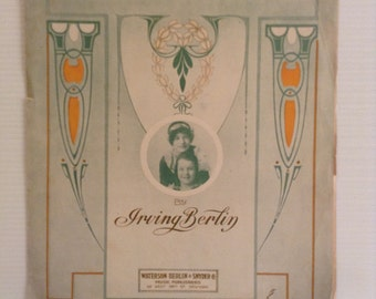 When I Lost You 1912 Sheet Music by Irving Berlin Roger Sisters