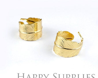 2pcs High Quality Curly Feather Ring (ZJ146)